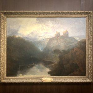 Tableau château Turner Musée Jacquemart André. exposition Turner