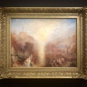 Tableau Turner  Musée Jacquemart André. exposition Turner