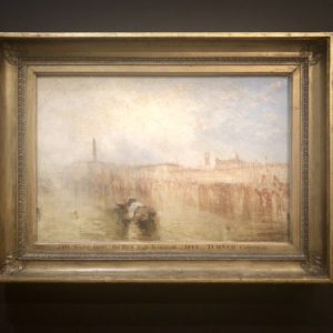 Tableau Venise Turner Musée Jacquemart André. exposition Turner
